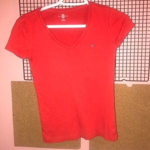 Red Tommy Hilfiger V neck